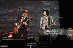 Michael J Fox and Joan Jett perform onstage at the 2011 A Funny Thing Happened On The Way To Cure Parkinson's event at The Waldorf=Astoria on...
