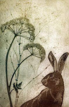 June Hare - framed - Kerry Buck - Southwold Gallery