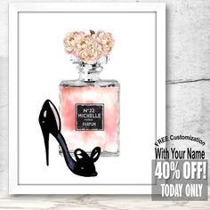 Personalized Artwork Perfume Bottle Perfume Print Fashion
