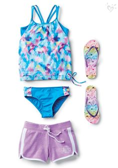 Throw on a pair of shorts with your tankini for a super  cute on-the-go look.