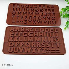 Baking Mould Alphabet Letters Silicone Chocolate Mould  Material: Silicone Pack: Pack of 1 Color: Multicolor (Random Color) Sizes: Mould Size: 9 in x 4.1 in x 0.4 in Chocolate Cavity Size: 6.3 in x 3.1 in x 0.4 in Country of Origin: India Sizes Available: Free Size   Catalog Rating: ★4.1 (3003)  Catalog Name: Wonderful Candy & Chocolate Moulds CatalogID_934985 C137-SC1600 Code: 771-6141512-423