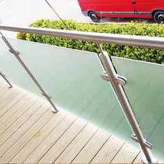 Post Glass Balustrade System - Brighton Balustrade - Sussex Glass Balustrades and Balconies Stainless Steel Railing, Steel Gate, Glass Balustrade, Balconies, Brighton, Patio, Products, Steel Handrail, Home