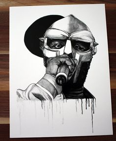 mf doom illustration