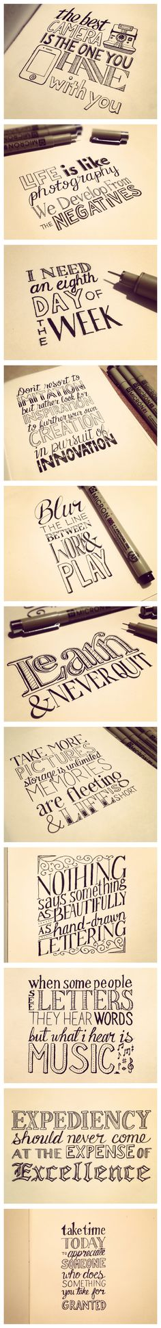 Handlettering by Sean McCabe