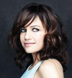 Carla Gugino on Playing Strong Women in 'San Andreas,' 'Wayward Pines' and 'The Brink' Beautiful Celebrities, Beautiful Women, Carla Gugino, Ramirez Tran Salon, Side Swept Bangs, Dream Hair, Hair Colorist, Brunette Hair, Hot Actresses