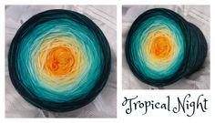 Tropical Night: (Mix) Material: Hochbauschacryl 6 Farben: goldgelb vanille eisblau oceangrün petrol schwarz