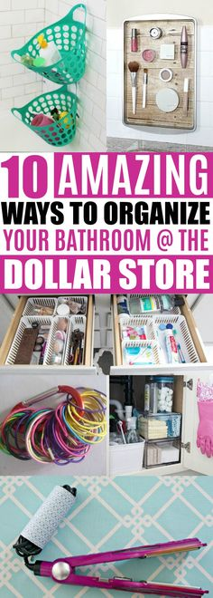 Bathroom Organizing Ideas Dollar Store