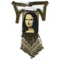 Mona Lisa Amulet Bag by beadedbear on Etsy, $675.00