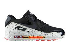 Nike Air Max 90 - Chaussures Nike Sportswear Pas Cher Pour Homme Noir/Anthracite/Grise base clair/Géranium 325213-031H