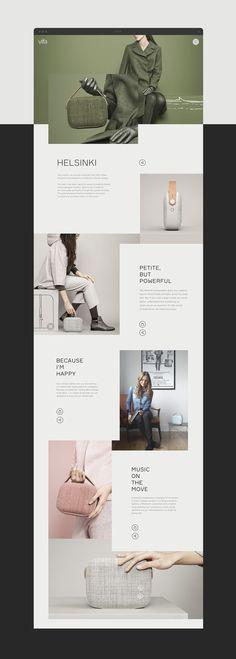 Vifa website design by Slava Fedutik Website Design Layout, Wordpress Website Design, Web Layout, Layout Design, Site Vitrine, Presentation Layout, Website Design Inspiration, Design Ideas, Article Design