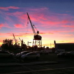 Sunset at Steiner Studios. Brooklyn Navy Yard. #TVLand #MadeInJersey