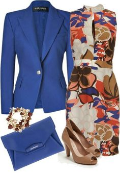Chic office outfit with a dress Chic Office Outfit, Office Attire, Office Outfits, Work Attire, Casual Outfits, Cute Outfits, Work Outfits, Spring Outfits, Outfit Work