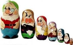 Matryoshka stackable dolls, I collect these and I would really love to find the 7 dwarfs.