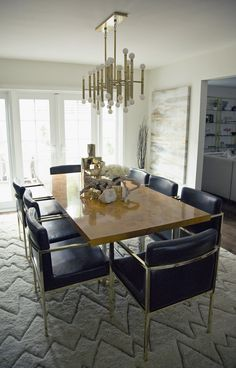 To achieve the glamorous look, the perfect chandelier was essential. Chriselle and Lucinda used Jonathan Adler's Meurice Chandelier ($1,125), but Laurel & Wolf also recommends a less expensive option, West Elm's Mobile Chandelier ($249). Jonathan Adler was also the ladies' go-to spot for a dining table, selecting his Bond Dining Table ($3,200).