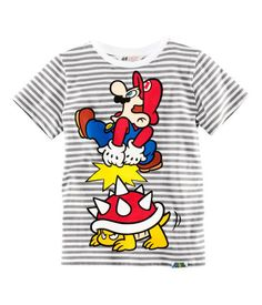 Kaikenlaiset Super Mario paidat pojalle, 128 cm (134cm).