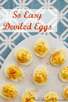 Easy Deviled Eggs are the BEST classic recipe that is easy and healthy! This budget-friendly appetizer or brunch item is delicious and so easy. Christmas Eve Appetizers, Brunch Appetizers, Christmas Brunch, Appetizers For Party, Brunch Recipes, Appetizer Recipes, Breakfast Recipes, Christmas Meals, Dip Recipes
