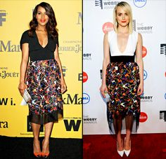 Kerry Washington and Taylor Schilling wear the same Sportmax dress -- who wore it best?!