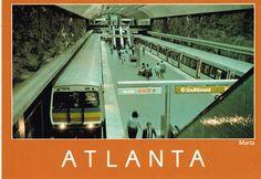 MARTA, Atlanta, Georgia postcard