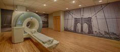 Super Graphics A MRI suite in Park Slope, Brooklyn received some hometown looks with custom printed wall graphics Wall Prints, Brooklyn, Divider, Graphics, Printed, Park, Room, Furniture, Home Decor