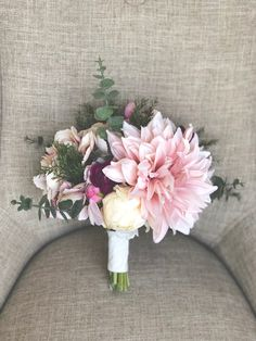 Vintage mauve-toned faux bridal bouquet #etsy #weddings #bouquet #mauve #vintage #flowers #bridalarrangement #bridalbouquet #bridesmaid #bride #wedding #weddingflowers #floral
