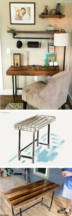 Check out the tutorial how to build a DIY industrial wooden desk @istandarddesign