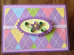 Paper quilled all occasion card by RLCreativeNotions on Etsy, $4.00