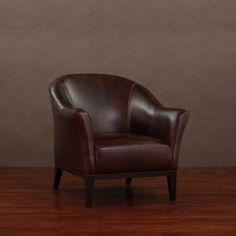 @Overstock - Give your room or office a dignified look with this Tivoli leather arm chair. Constructed of red top grain aniline leather, this chair will be comfortable and look good for years to come.http://www.overstock.com/Home-Garden/Tivoli-Mahogany-Leather-Arm-Chair/4485614/product.html?CID=214117 $219.99