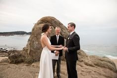 These Canadian newlyweds chose to marry in a coastal elopement ceremony in Carmel, California.