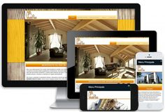 Web design by PointNet - responsive site for MiaWoodenHouses - case in legno Toscana Lucca