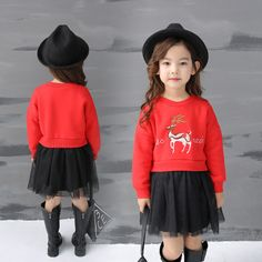 >> Click to Buy << Baby Girl Patchwork Dress New 2016 Lovely Deer Cashmere Yarn Winter Autumn Casual Dresses for Girls Vestido Clothes GDR125 #Affiliate