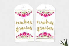 Printable Gift & Favor Tags Mexican Flower by FiestaValleyPrint