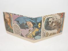 Valentines Day Gift Sale Comic Book Wallet// Batman and Superman, $2.25