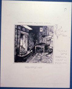 Bruce Porter,  Washington Irving's Chair, Red Tavern Inn, 4x4