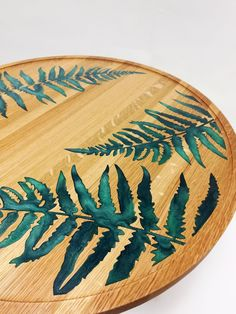 Decoration Plante, Decoration Table, Epoxy Resin Table, Resin Table Top, Epoxy Resin Art, Diy Epoxy, Fern Flower, Traditional Artwork, Accent Colors