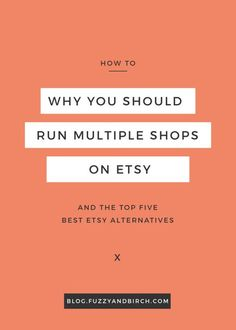 Why would you want to run more than one shop on Etsy? What will it do for your business? See why most successful sellers run multiple shops. Get the top 5 best Etsy alternatives and start expanding today. Click to read more. Check out all the best tips and tricks for eBay sellers on http://ResellingRevealed.com The best eBay blog on the net for BOLO lists, eBay How-To Guides, and more!