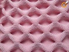 Layered Shirred Knitting Model Making - Knitting with machine knitting - crochet patterns Knitting Charts, Baby Knitting Patterns, Knitting Designs, Stitch Patterns, Crochet Motifs, Crochet Yarn, Crochet Baby Beanie, Knitting Needles, Fabric Manipulation