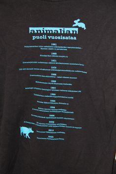 Animalian paidan selkäpuolen painatus.