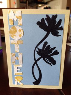 Homemade Mother's Day card.
