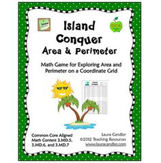 FREE Island Conquer Area and Perimeter- combines area and perimeter with coordinate graphs