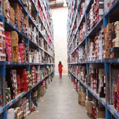 Inside Style Tread's warehouse full of 80,000 pairs of shoes... This is just one aisle out of many... #shoes