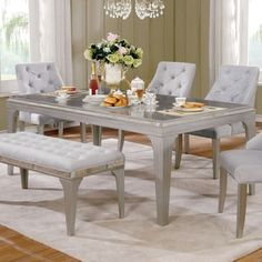 Shop for Furniture of America Selano Contemporary Mirrored Silver 84-inch Dining Table. Get free shipping at Overstock.com - Your Online Furniture Outlet Store! Get 5% in rewards with Club O! - 22279202