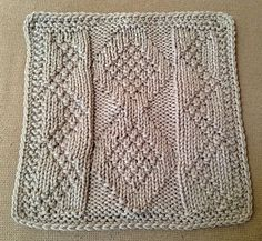 "Ravelry: Carbon Dating 9"" Knit Afghan Block Dishcloth pattern by Margaret MacInnis"