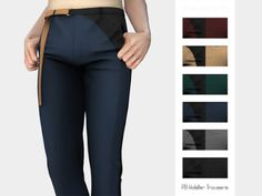 PB Holster Trousers for The Sims 4 by Mauvemorn