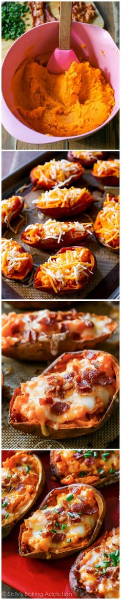 Loaded Sweet Potato Skins are so simple to make and they get SO crispy!