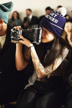 camera & beanie