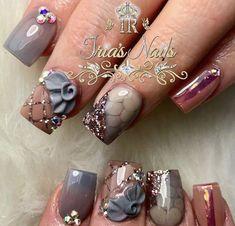 Coral Nail Art, Coral Nails, Acrylic Nail Designs, Nail Art Designs, Square Nail Designs, Nails Only, Hot Nails, Fabulous Nails, Square Nails