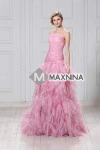 Wish | Luxuriously Mermaid Strapless Chapel Ruffles Alina's Ball Gown/Quinceanera Dress YSP14274