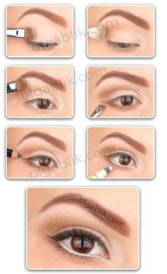 How to: Nude Make-up- use a soft pink kohl like Eye Bright from Benefit for a natural wide awake look!