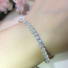 9804919b600388 7 CT Round Diamond Tennis Bracelet 7