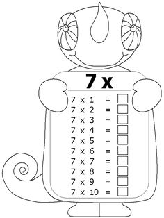 math times tables 6 Times Table, Maths Times Tables, Times Tables Worksheets, Free Kids Coloring Pages, Numeracy Activities, 3rd Grade Math Worksheets, Teaching Multiplication, School Frame, Math Numbers